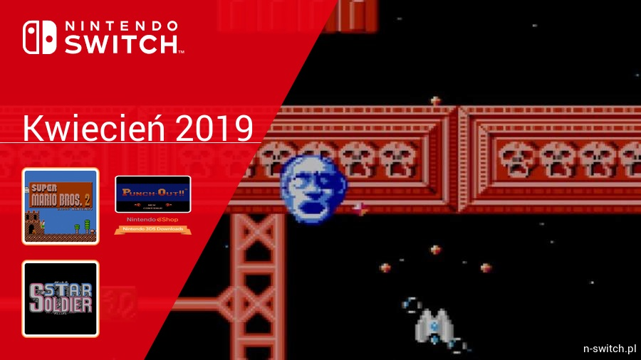 Kwiecień 2019 - darmowe gry w Nintendo Switch Online